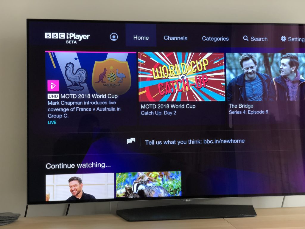 BBC iPlayer Home UHD Programme
